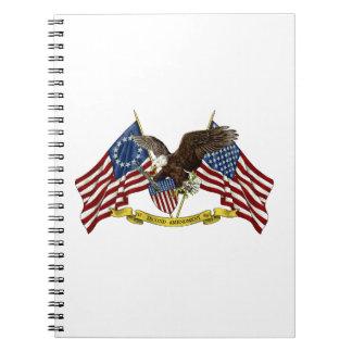 Segunda libertad Eagle de la enmienda Libreta Espiral