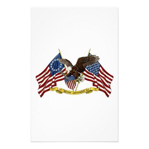 Segunda libertad Eagle de la enmienda Papelería