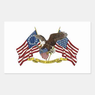 Segunda libertad Eagle de la enmienda Pegatina Rectangular