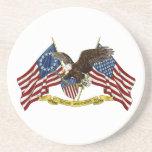 Segunda libertad Eagle de la enmienda Posavasos Para Bebidas