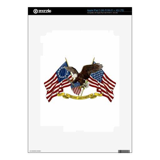 Segunda libertad Eagle de la enmienda iPad 3 Pegatina Skin