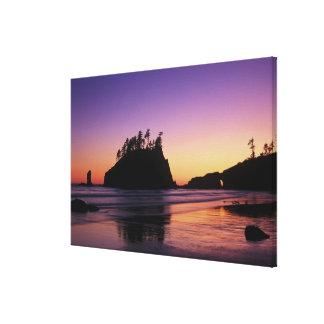 Segunda playa en el crepúsculo, NP olímpico, WA, Impresión En Lienzo