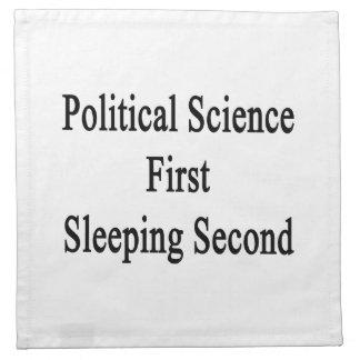 Segunda primero el dormir de la ciencia política servilletas