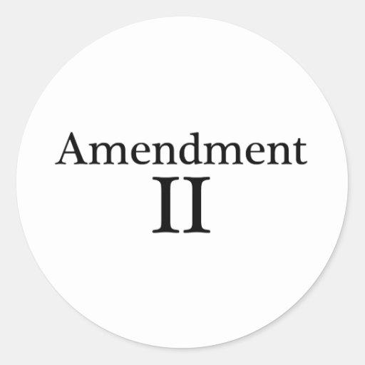 Segunda ropa de la enmienda pegatinas redondas