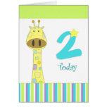 Segunda tarjeta del muchacho del cumpleaños