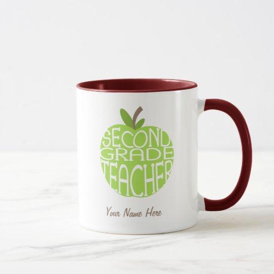 Segunda taza del profesor del grado - Apple verde