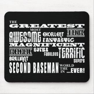 Segundas bases del béisbol: La segunda base más gr Alfombrillas De Ratón