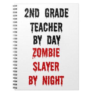 Segundo asesino del zombi del profesor del grado libreta espiral