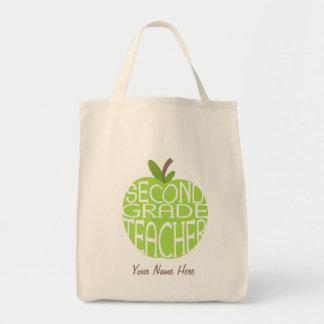 Segundo bolso del profesor del grado - Apple verde Bolsa Tela Para La Compra