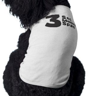 Segundo camiseta del perro de la memoria 3 playera sin mangas para perro