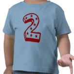 Segundo cumpleaños feliz camiseta