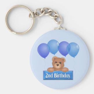 Segundo cumpleaños llavero redondo tipo pin