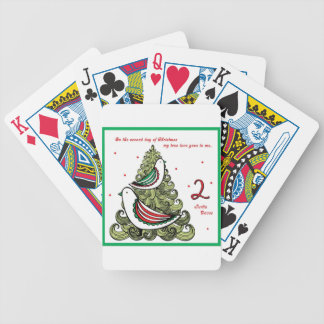 Segundo día de navidad barajas de cartas