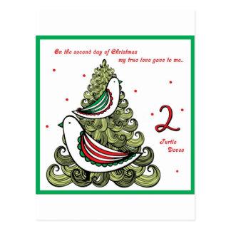 Segundo día de navidad tarjetas postales