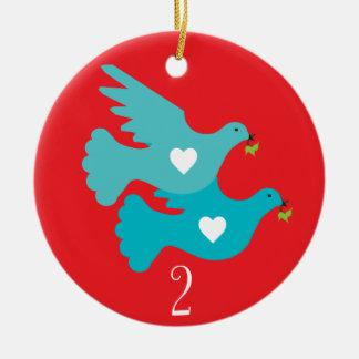 Segundo día de ornamento del navidad adornos