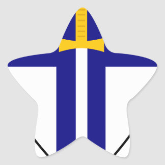 Segundo ejército pegatina en forma de estrella