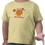 Segundo león del cumpleaños camisetas