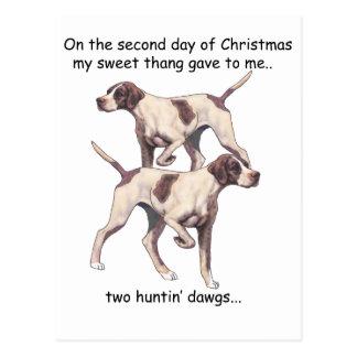 Segundo navidad del campesino sureño del día postales