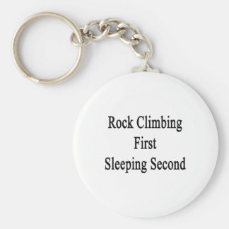 Segundo primero el dormir de la escalada llavero