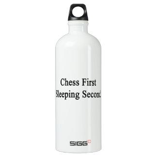 Segundo primero el dormir del ajedrez