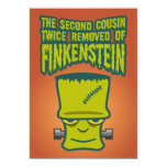 Segundo primo quitado dos veces de Finklestein Invitación 12,7 X 17,8 Cm