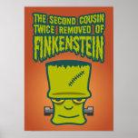 Segundo primo quitado dos veces de Finklestein Posters