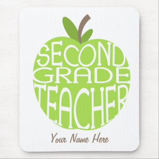 Segundo profesor Mousepad - Apple verde del grado