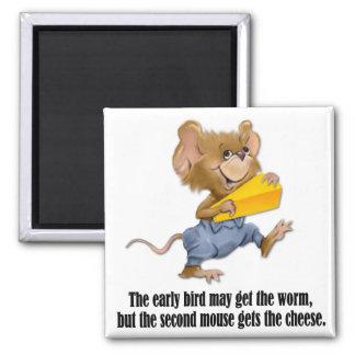 Segundo ratón imán cuadrado