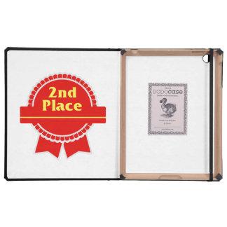 Segundo rojo del lugar y cinta del oro iPad coberturas