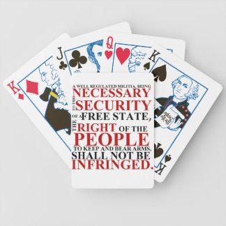 Segundos naipes de la enmienda baraja de cartas