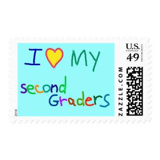 Segundos regalos del profesor del grado sello postal