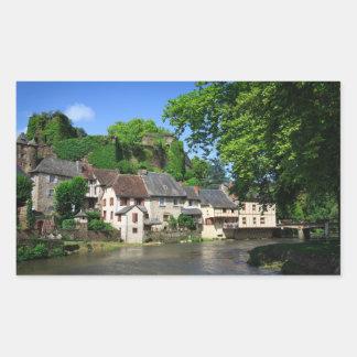Segur-le-Chateau in France rectangular sticker