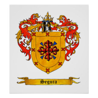 Segura Shield of Arms Poster