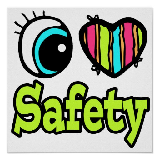Seguridad brillante del amor del corazón I del ojo Posters