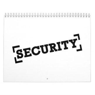 Seguridad Calendario De Pared
