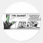 Seguridad contra incendios casera de Frankenstein  Pegatina