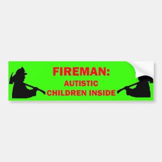 Seguridad contra incendios del autismo etiqueta de parachoque