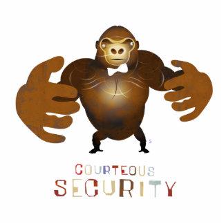 Seguridad cortesa - ejemplo de ZooDo Fotoescultura Vertical