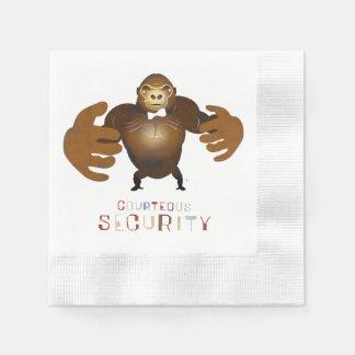 Seguridad cortesa - ejemplo de ZooDo Servilleta De Papel