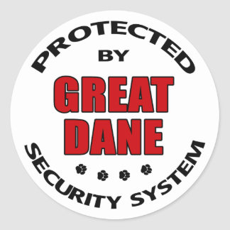 Seguridad de great dane pegatinas redondas