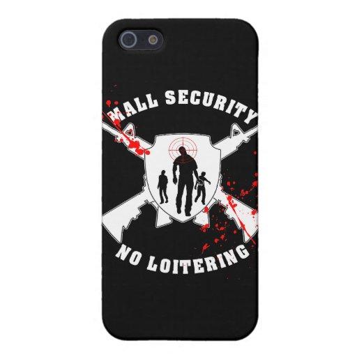 Seguridad de la alameda del zombi iPhone 5 fundas