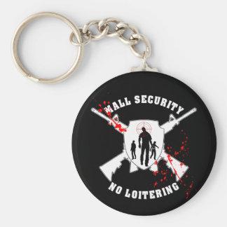 Seguridad de la alameda del zombi llavero redondo tipo pin