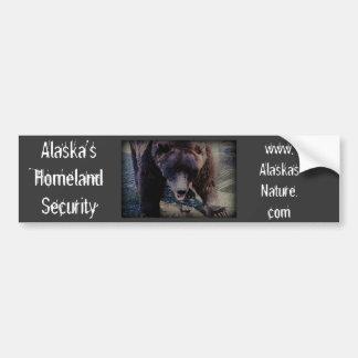 Seguridad de la patria de Alaska Pegatina Para Auto