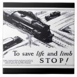 Seguridad de la travesía de ferrocarril 1906 tejas