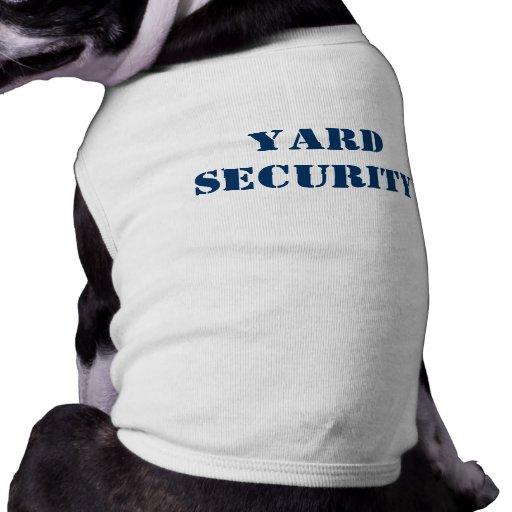 Seguridad de la yarda playera sin mangas para perro