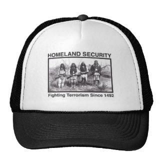Seguridad de patria india de la foto blanca gorras