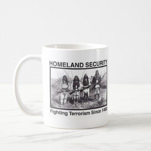 Seguridad de patria india de la foto blanca tazas de café
