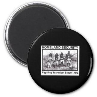 Seguridad de patria india de la foto negra imán redondo 5 cm