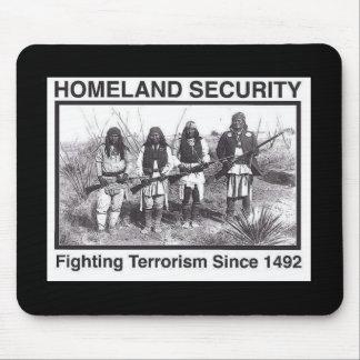Seguridad de patria india de la foto negra alfombrillas de raton