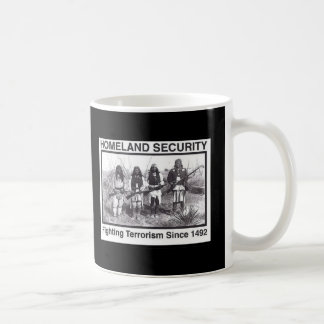 Seguridad de patria india de la foto negra taza clásica
